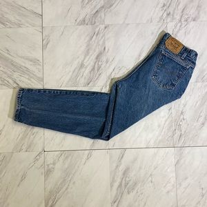 Vintage made In the USA Levi's 550 orange tabs